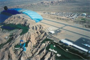 Parachute over Skydive Mesquite for Las Vegas Skydiving
